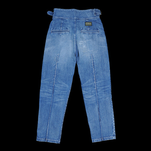 12oz Denim Gurkha Pants (Pleats Damage) in Midtone