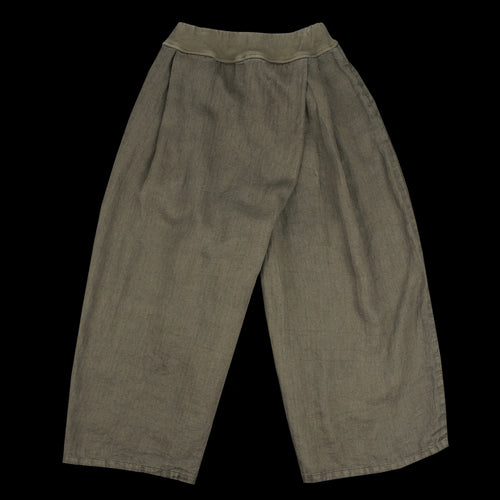 Gauze Linen Herringbone Pencil TOMBOM Pants in Khaki