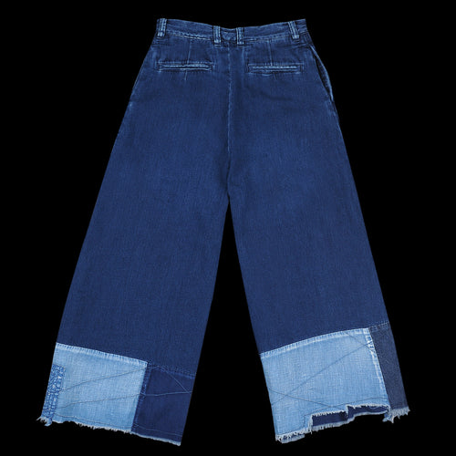 8oz IDGxIDG Denim Bell Baggy Pants (Farmer Remake) in Indigo