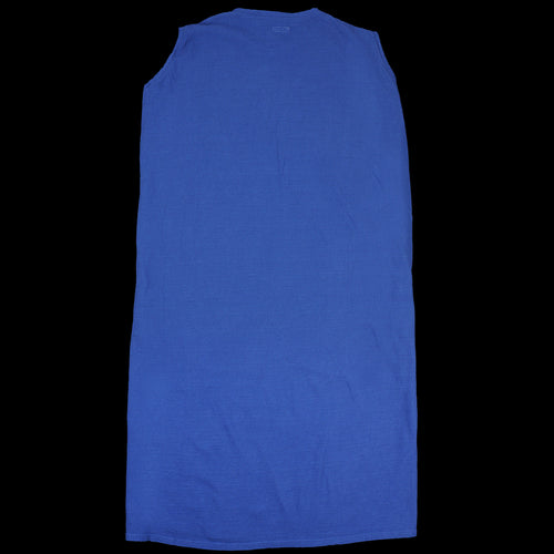 Jersey BIG Non-Sleeve Dress in Blue