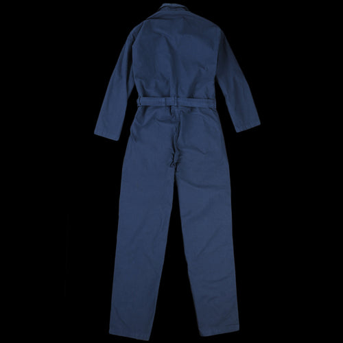 Overdyed Light Cotton Canvas Overall in Navy