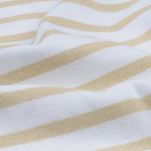 Stripe Long Sleeve Tee in White & Vanilla