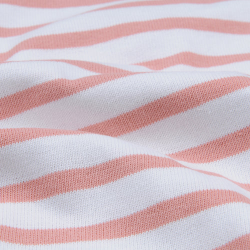Stripe Long Sleeve Tee in White & Nectar