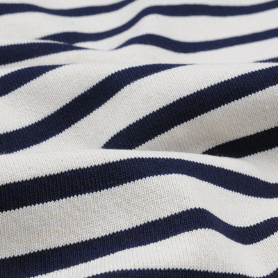 Orcival - Stripe Long Sleeve Tee in Ecru & Marine