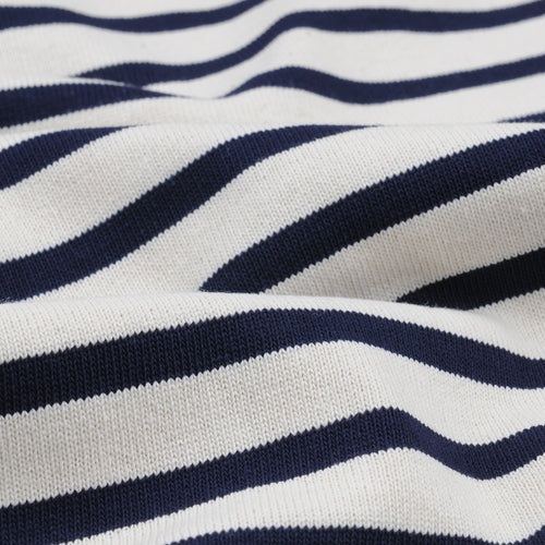 Stripe Long Sleeve Tee in Ecru & Marine