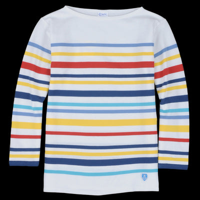 Orcival - Marine Nationale Long Sleeve Tee in White & Multi
