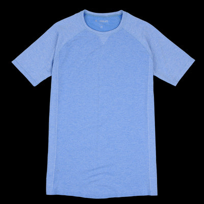 Fourlaps - Silver Charge Tee in Heather Blue