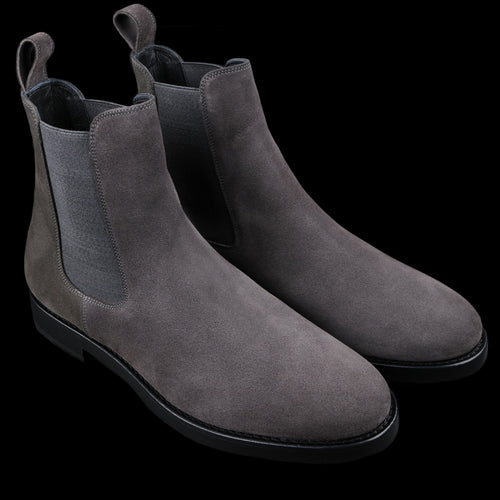 Suede Chelsea Boot in Grey