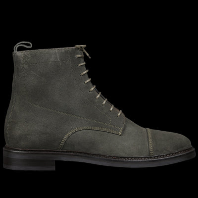 Officine Generale - Suede Officer Boot in Olive