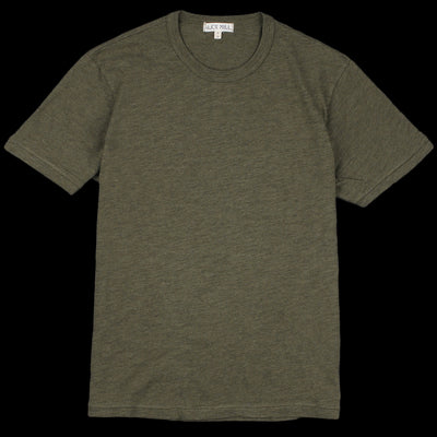 Alex Mill - Heather Standard Short Sleeve Tee in Heather Olive