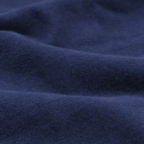 Sueded Jersey Short Sleeve Crew in Navy