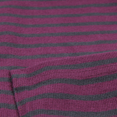 Alex Mill - Striped Sueded Jersey Long Sleeve Crew in Port Royal & Blackberry