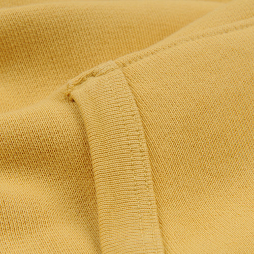 French Terry Pullover Hoodie in Mustard