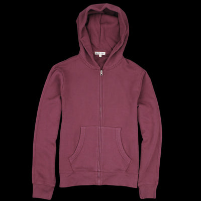 Alex Mill - French Terry Zip Hoodie in Burgundy