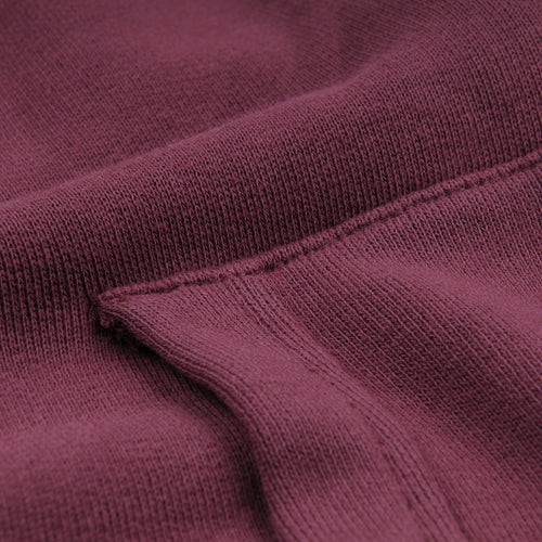 French Terry Zip Hoodie in Burgundy