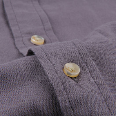 Alex Mill - Solid Double Gauze Shirt in Lavender Grey