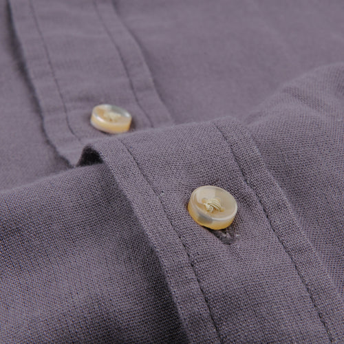 Solid Double Gauze Shirt in Lavender Grey