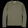 Alex Mill - Double Knit Long Sleeve Raglan Crew in Deep Olive