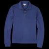 Alex Mill - Double Knit Long Sleeve Polo in Navy