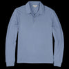 Alex Mill - Double Knit Long Sleeve Polo in Blue Slate