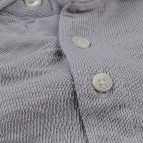 Double Knit Long Sleeve Polo in Mist