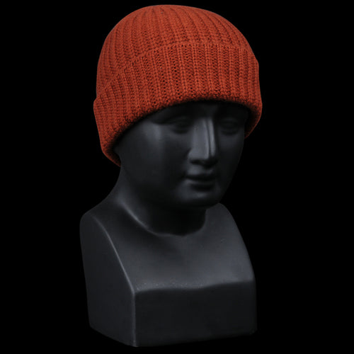 Cashmere Solid Beanie in Spice