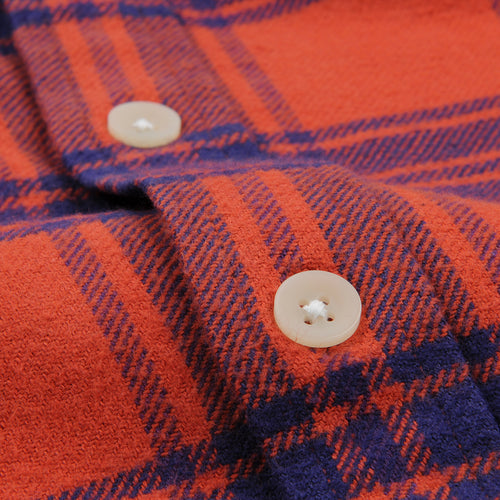 Brushed Check Flannel Shirt in Red