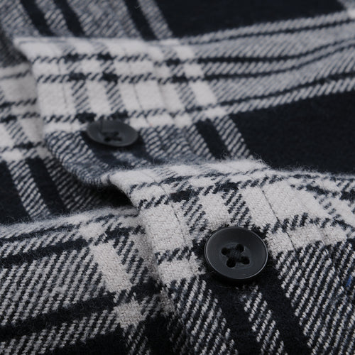 Brushed Check Flannel Shirt in Black
