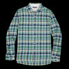 Alex Mill - Brushed Plaid Flannel Shirt in Green