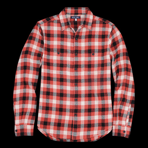 285fa59d Alex Mill - Brushed Plaid Flannel Shirt in Red