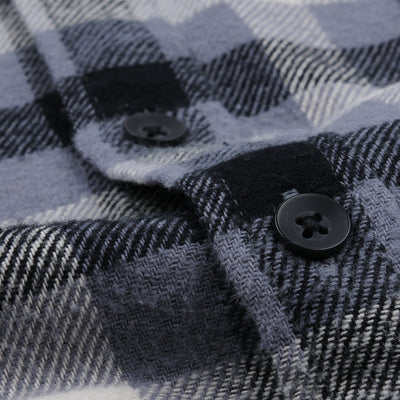 Alex Mill - Brushed Plaid Flannel Shirt in Grey