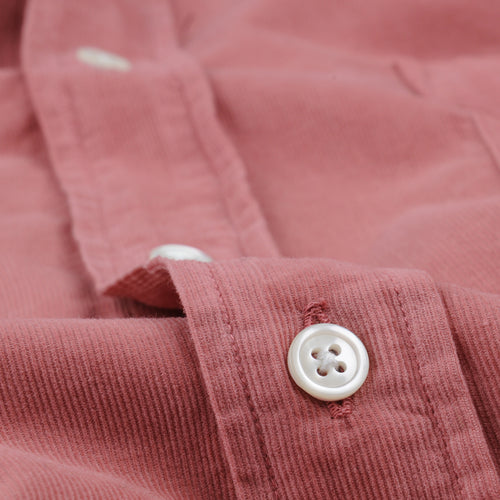Corduroy Paul Pat Shirt in Indian Rose