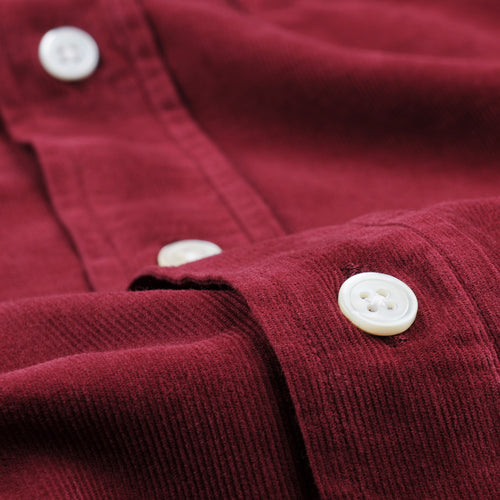 Corduroy Paul Pat Shirt in Wine