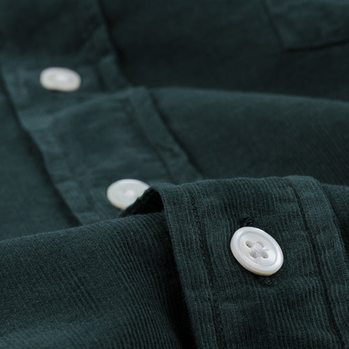 Corduroy Paul Pat Shirt in Forest
