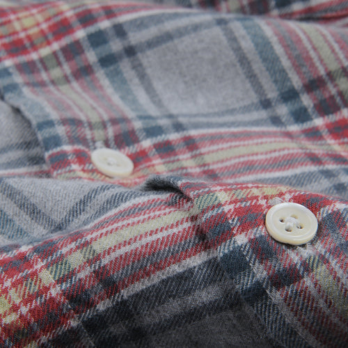 Vintage Plaid Penn Shirt in Red Blue & Grey