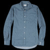 Hartford - Flannel Paul Shirt in Grey Foxes on Forest Green