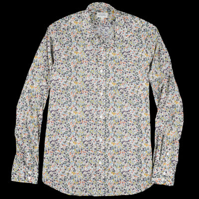 Hartford - Liberty Flowers Paul Shirt in Blue Brown & Pink