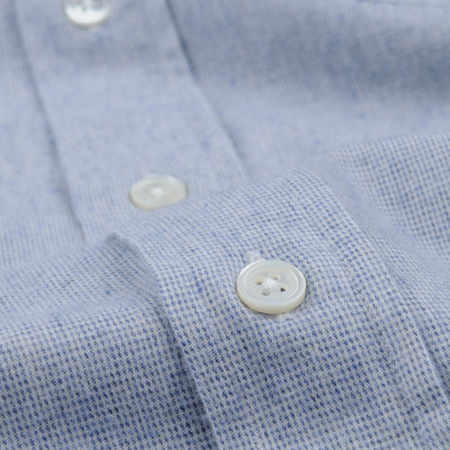 Pin Point Flannel Paul Shirt in Blue & Chalk