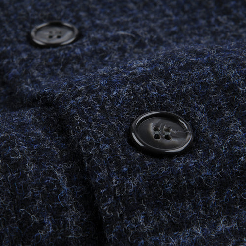 Shetland Plaid Japton Jacket in Navy & Blue