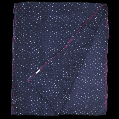 Hartford - Dots Elouan Scarf in Navy & White with Wine Edging Embroidery