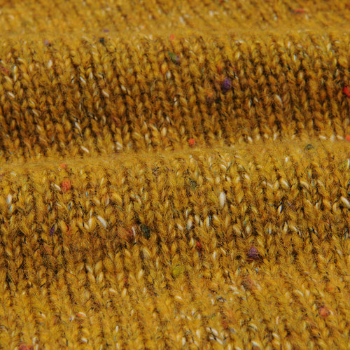 Donegal Macaro Sweater in Mustard Yellow