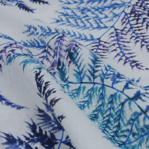 Carta Shirt in Blue Ferns on White