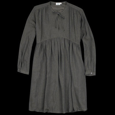 Hartford - Extrafine Wool Rivage Dress in Dark Grey