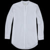 Hartford - Luxury Poplin Colonne Shirt in White