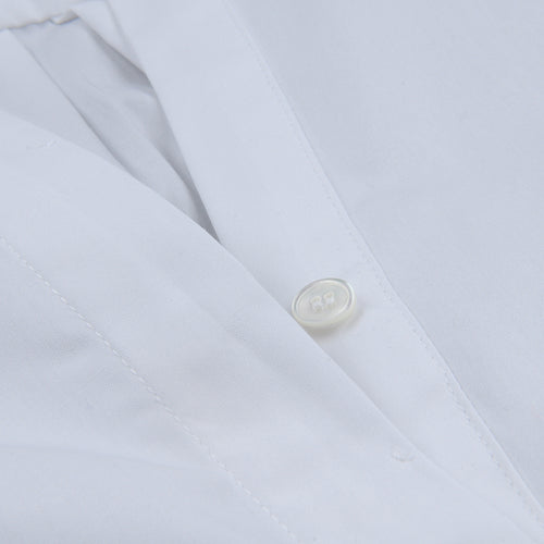 Luxury Poplin Colonne Shirt in White