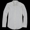 Hartford - Fine Stripe Corazon Shirt in Black on Raw