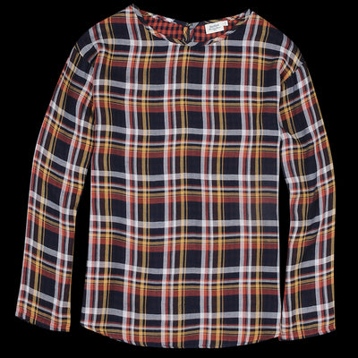 Hartford - Double Face Hibou Top in Multi Check