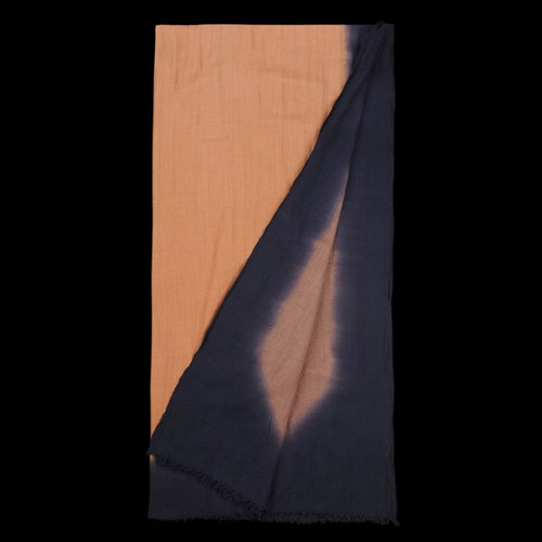 Color Gradient Ethel Scarf in Navy Blue & Brown