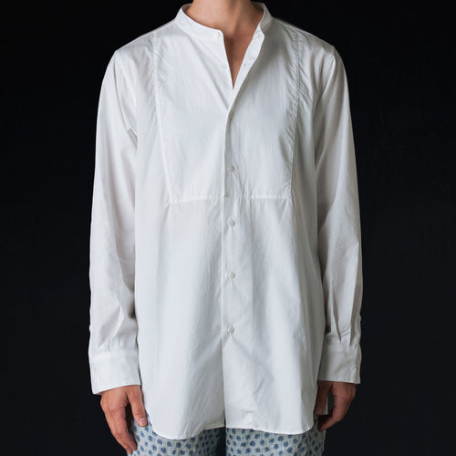 High Count Poplin Frock Shirt in White