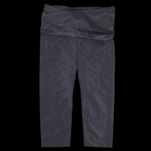 Silk Chambray Taffeta Thai Style Narrow Pant in Navy